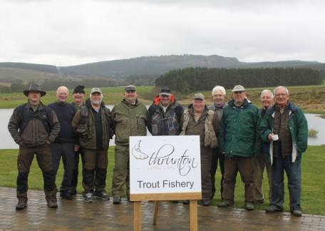 Some of the members of the Oddfellows Angling Club who their outing at Thrunton