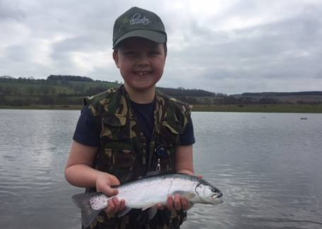 Thrunton Junior Rory Perkins was delighted to land this rainbow on a shuttlecock buzzer