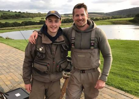 Connor Metcalf and James Stokoe who enjoyed their day with trout Fisherman magazine