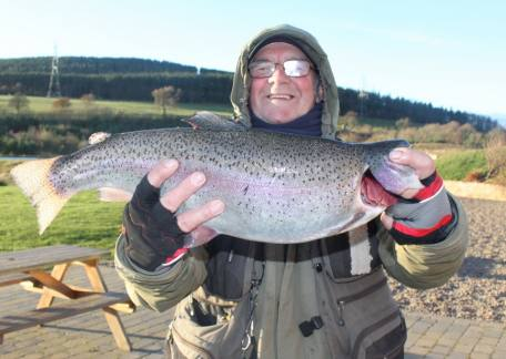 John Cannon from Warkworth netted this 6lb 10oz rainbow from Long Crag lake on a cats whisker
