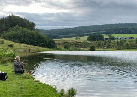Brain Lavery netting his 4th fish of the evening session, caught using CDC's