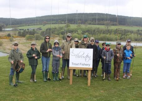 Youngsters from The Trout Ticklers who enjoyed their coaching day at Thrunton on Saturday