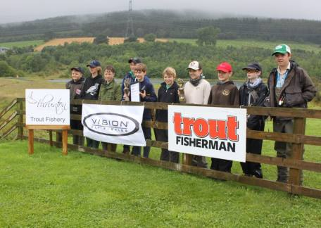 The finalists who competed in the UK Junior Troutmaster Final after the competition