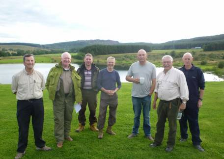 Members of the  the Northumbrian Water Angling Club who enjoyed their day at Thrunton