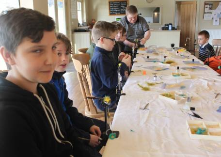 Junior Fly tying with Paul Griffin