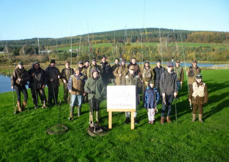 All the anglers who competed in the North Northumberland Hospice fundraiser