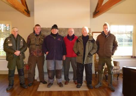 Some of the members of the Oddfellows angling Club who enjoyed their Christmas visit