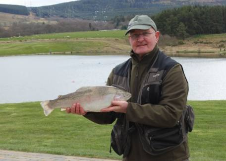 Paul Stoddart from Dipton enjoyed his first day of 2017 landing 19 including this 5lb 12oz rainbow on olive suspender buzzers