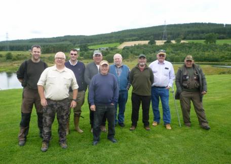 Some of the members of The Eyewater Angling Club who fished a friendly competition