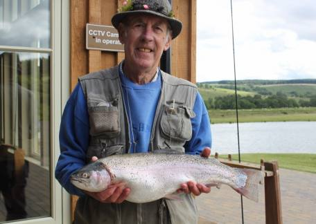 Jimmy Gargett from Wideopen with a 6lb 2oz rainbow from Coe Crag lake tempted on a shipmans buzzer
