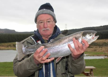 Alan Robinson from Swalwell landed this 4lb 5oz rainbow on an olive bloodworm from Long Crag