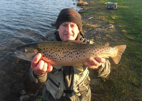 Matty Devine was delighted to land this 6lb brown which he described as 'the best brown he has caught this year'
