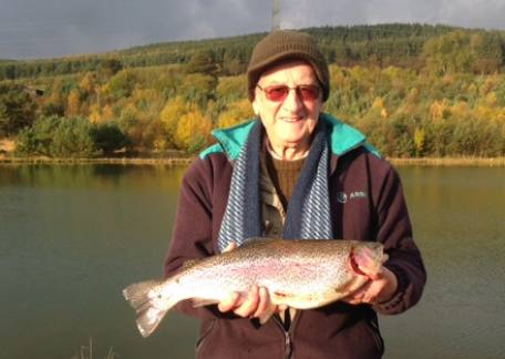Bob Stewart from Bedlington landed this 4lb 12oz fish on a yellow dancer