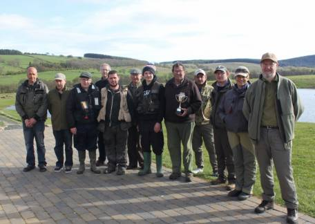 The Norham & Ladykirk Angling Club who fished their friendly competition at Thrunton for the Gordon Wharton Cup