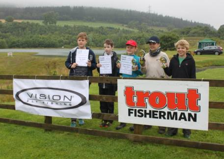 The qualifiers from Heat 1 on Saturday morning for the Uk Junior Troutmaster Finals