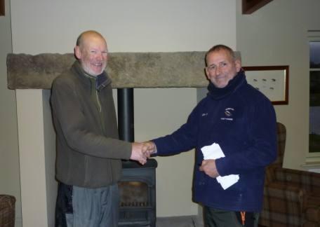 Jim Burtle, winner of the Fritz 'n Flies heat with Jim Tuck