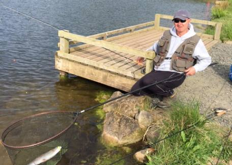 Andy Richmond was delighted to land his first fish of the day