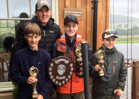 The Top 3 rods in the Final of the UK Junior Troutmasters with England International Scott Nellins
