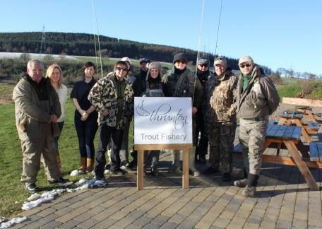 Veterans and helpers from the Fishing for Heroes charity who thoroughly enjoyed their day at Thrunton