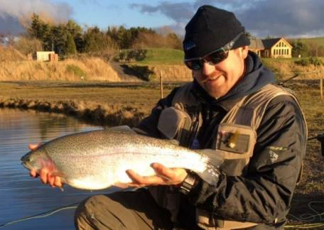 Howard Croston from Morpeth returned this 10lb 8oz rainbow back to Coe Crag on a nymph