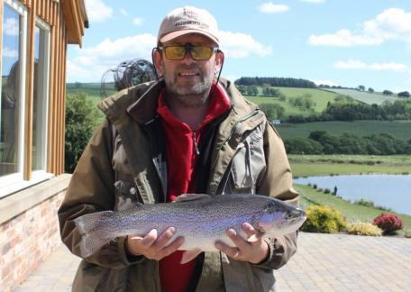 Phil Stone from Chester-le-Street was pleased to net this 4lb 2oz rainbow on a yellow dancer