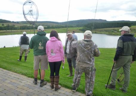 Some of the veterans with the Fishing for Heroes charity during another successful day at Thrunton
