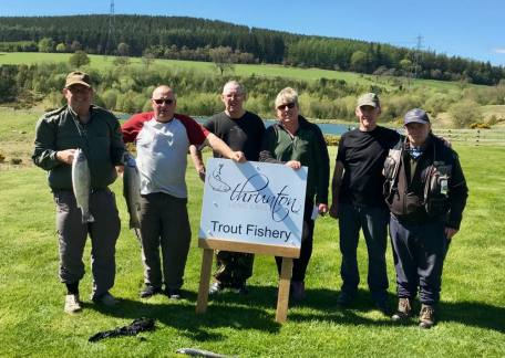 Some of the members of the Blyth Angling Club who enjoyed their visit at Thrunton