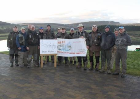 Anglers who competed in another heat of the Fritz 'n' Flies Winter Series