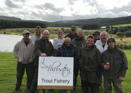 Members of the 'Hoy & Hope' angling club who visited on Sunday