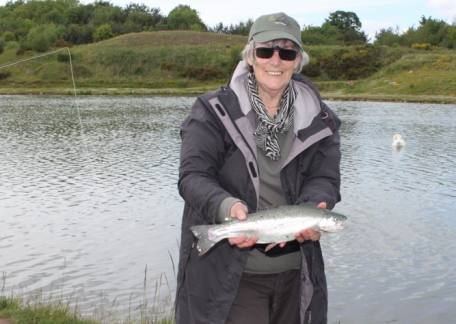 Caroline Brown from Longhorsley delighted with her catch