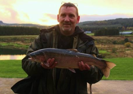 Peter Cassidy from Consett used a cat variant to land this 5lb 5oz rainbow from Coe Crag