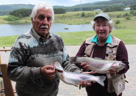 Marilyn and Neville Edwards from Hexham who enjoyed their day with 2 of their many fish on buzzers and daddies