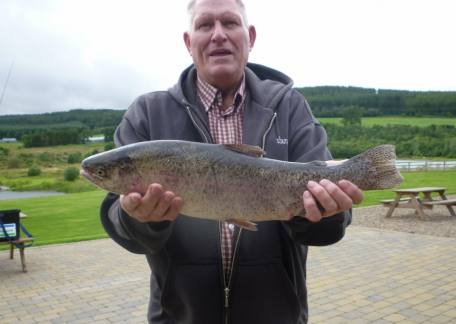 C. Coulson from Prudhoe landed this 4lb 2oz rainbow from Coe Crag on a black buzzer