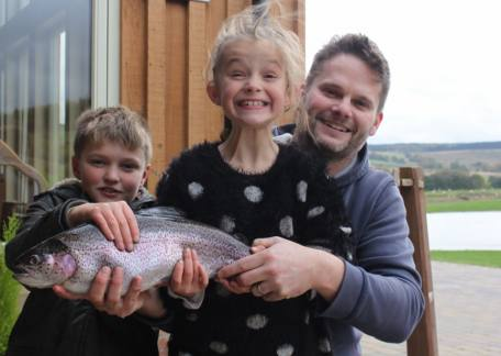 George, Camille & Edward delighted with this 5lb fish