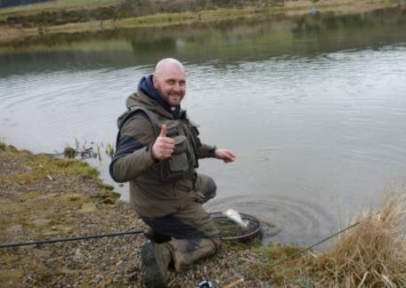 One of the qualifiers, Lee Wilkinson was delighted to land another rainbow