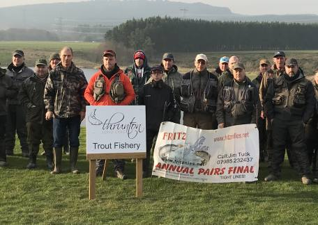 Anglers fishing in the Fritz & Flies Individual final on Saturday