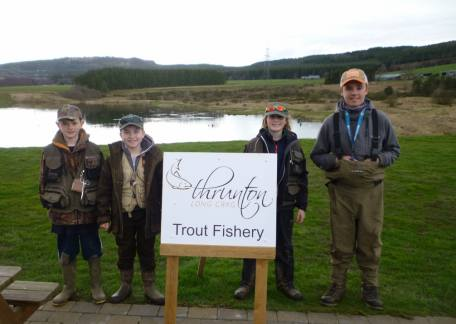 The Juniors who fished off along side the adults in the Thrunton Troutmasters heat