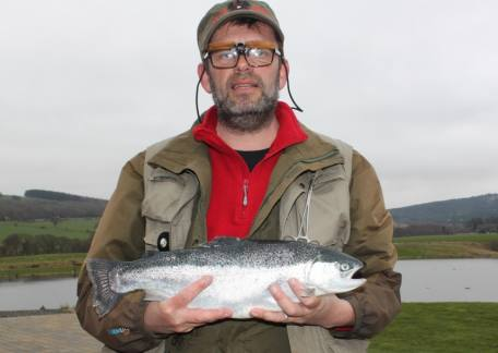 Phil Stone from Chester-le-Street with a beautiful 3lb 10oz blue landed on a yellow dancer