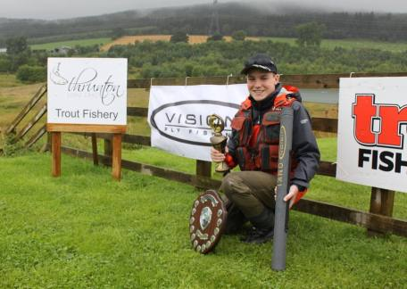 Morgan Wyn Jones from Eisteddfa Fishery - the Uk Junior Troutmaster winner. Well done Morgan