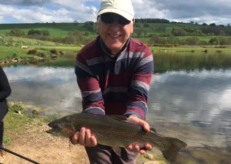 Clive Roper on holiday from Leicester was delighted to land his personal best trout, a 4lb rainbow