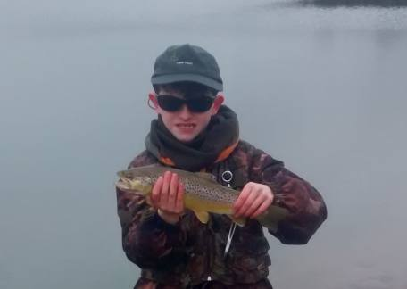 Jonathon Lister with a beautiful brown which he safely returned to Coe Crag