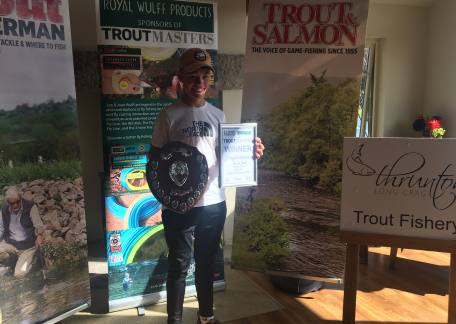 Harrison Douds representing Sharpley Springs - winner of the UK Junior Troutmasters. Well done Harrison