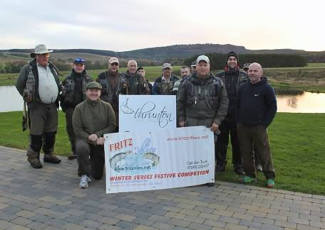 Anglers who competed in the Fritz 'n' Flies Winter series heat at Thrunton