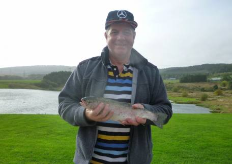 John Roper from Blyth was delighted to catch his first ever trout on a fly. Well done John