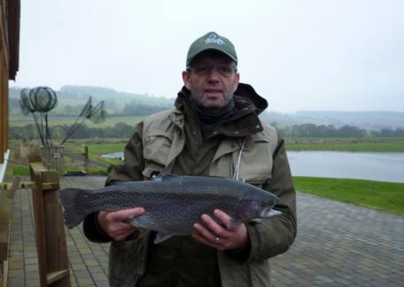 Phil Stone from Chester-le-Street landed this 5lb 7oz rainbow from Coe Crag on a yellow dancer