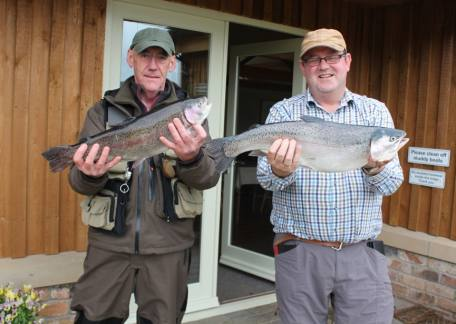 M. Docherty and R. Poole from Wansbeck & Blyth Angling Club with a 4lb 14oz and 5lb 14oz fish