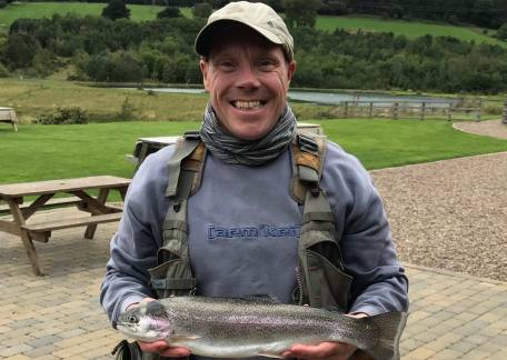 Mathew Lowery from Whitley Bay landed this beautiful 4lb Rainbow using a Hopper