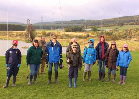 Members of the extended Robson family who enjoyed a belated Christmas present fishing together