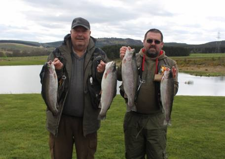 Dennis Stephenson and Stu Ward with some of the fish they landed on Saturday