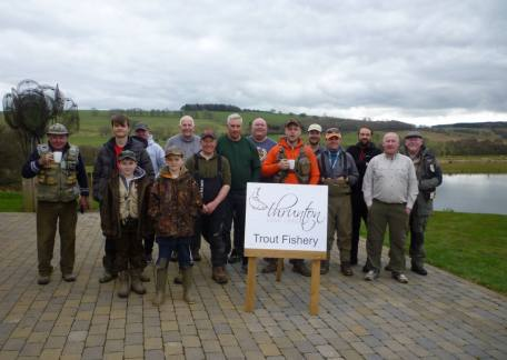 Some of the 21 anglers who competed in the Troutmaster fish off held at Thrunton on Sunday